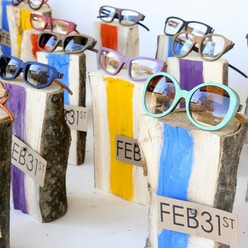 Glasses on Logs
